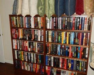 Books; throw pillows