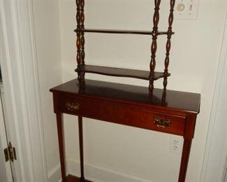 Small console; small tiered shelf