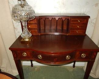Gorgeous Baker Furniture desk; lamp