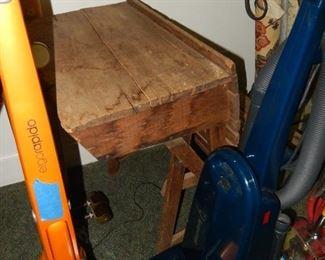 Vacuums; primitive school desk