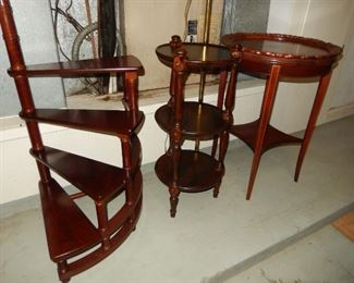 Small tables; steps