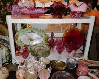 Lots of better glassware in this sale...this is only part of what we have to offer !