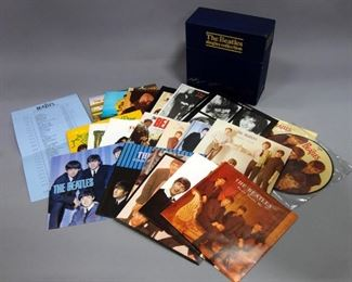 "The Beatles Singles Collection, 26 x 7"" Vinyl, 45rpm, Pictures Sleeve + 7"" Picture Disc and Stat Sheet, 1982 Parlophone Single Box Set, BSCP-1"