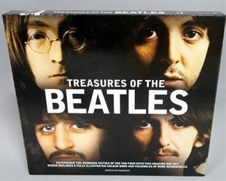 Treasures of the Beatles Slipcased Hardcover Book With Facsimile Memoribilia, Contracts, Flyers, Posters, More