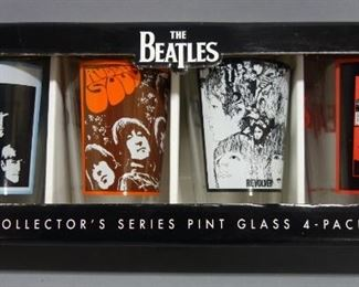 The Beatles Collector's Series Pint Glass 4-Pack, New In Box