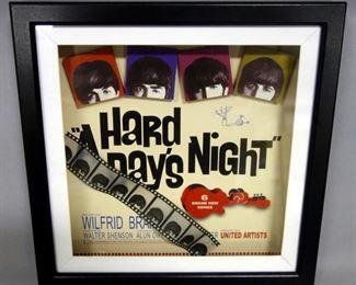 "The Beatles Hard Day's Night Shadow Box 14"" x 14"""