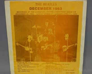 The Beatles Liverpool Empire Christmas Show 12/22/63 and Live At Wembley, London 4/11/65, Unofficial Release, NM Vinyl