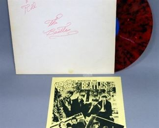 The Beatles Rock N' Roll A.B.C. Manchester 1964, Red And Black Splatter Vinyl, Holland, Wizardo Records, 1976 Unofficial Release, NM Vinyl