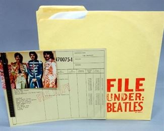 The Beatles File Under Beatles, With Filmstrip And Color Picture In Original Sleeve, 1980 Gnat Records, Unofficial Release, NM Vinyl