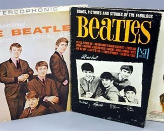The Beatles Introducing The Beatles and Songs, Pictures, Stories Of The Fabulous Beatles 2 LP's, Vee-Jay Records