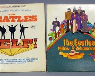 The Beatles HELP! Apple SMAS 2386, Yellow Submarine, Apple SW 153, VG+ Vinyl, Qty 2