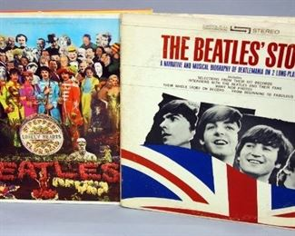 The Beatles Sgt. Peppers Lonely Heart Club Band w/Insert, Capitol SMAL 2653, NM Vinyl, The Beatles Story 2 x LP VG++ Vinyl, Qty 2