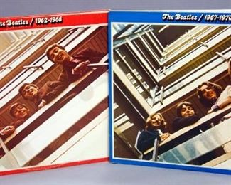 The Beatles Red and Blue Albums, 1962-1966 Red Vinyl  VG+, 1967-1970 Black Vinyl NM, 2 x LP ea