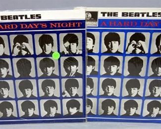 The Beatles A Hard Day's Night , Parlophone Reissues, Stereo And Mono Versions, Stereo Version Is Sealed, NM Vinyl, Qty 2