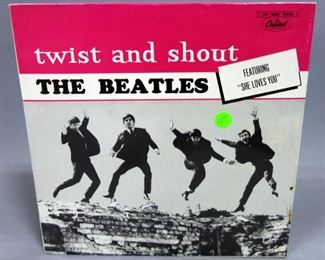 """The Beatles Twist And Shout, Capitol 6000 Series T 6054, Sealed and The Beatles 12"""" UK Love Me Do 12R 4949 NM Vinyl, Qty 2"""