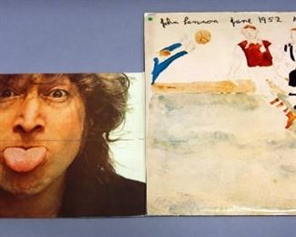 John Lennon Imagine Digitally Remastered With Poster, Walls And Bridges With Lryic Sheet, NM Vinyl, Qty 2