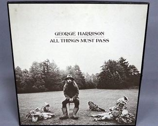 George Harrison All Things Must Pass 3 x LP Boxed Set With Poster, NM Vinyl
