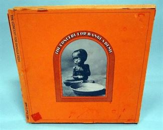 George Harrison The Concert For Bangladesh 3 x LP Boxed Set With Booklet, NM Vinyl