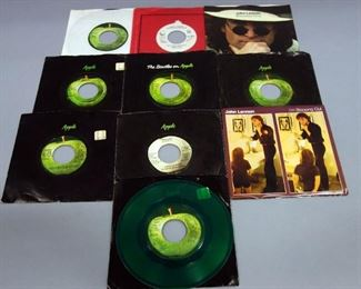 John Lennon 45 rpm Records, Plastic Ono, Stand By Me, Cold Turkey, Power To The People, Imagine, VG to NM, Qty 10
