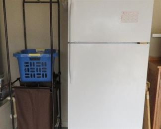 Laundry cart, garage refrigerator