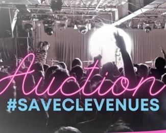 Presented by Cleveland Rocks, Past, Present, & Future, Axon Creative & Rust Belt Revival https://www.bidrustbelt.com/Event/Details/98270479/SaveCLEVenues-Music-Memorabilia-Fan-Auction