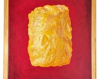 Lot 004 Original Painting: Happy Dog Tater Tot (Created by Artist, Mike Sobek)