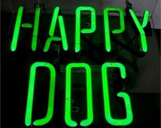 Lot 003 Happy Dog Neon - Original Happy Dog at the Euclid Tavern Sign