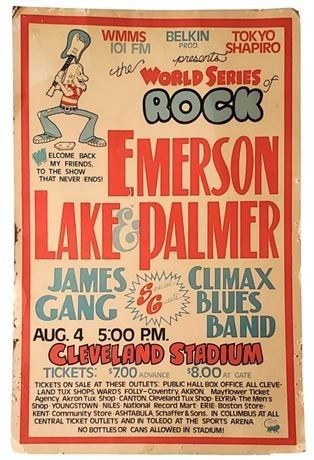 Lot 018 World Series of Rock - 1974 Promotional Poster