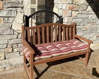 $150 Nice Wooden Bench with comfy pillow!
