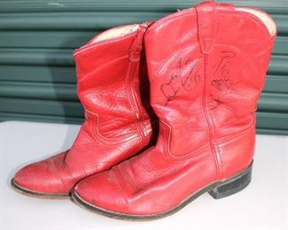 Autographed Kansas City Chiefs Cheerleader Boots
