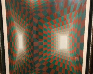 Roy Ahlgren Portals signed silkscreen