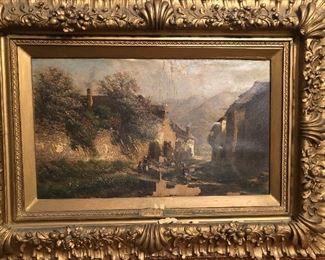Alois Toldt oil on canvas with paint losses, in heavy carved antique frame