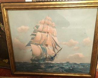Large ship print