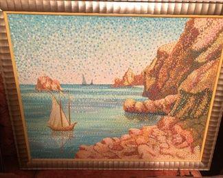 Pointillist oil on canvas