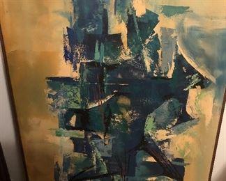 "Oil on canvas signed Foccini (Italian, Mid Century). 42""x50"""