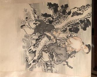 Chinese erotic long scroll painting