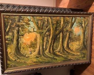 Large oil on canvas signed D. Kazzetti