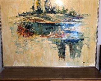 Huge oil on canvas signed M. Marigonda