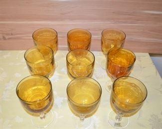 Zrike Beautiful Amber Wine Glasses