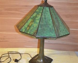 Beautiful Stained Glass / Bronze Lamp