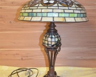 Stained Glass Table 3 way light