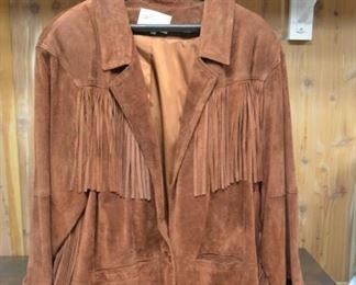 Suede Fringe Lady's Jacket