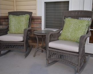 Outdoor Faux Rocker Chairs