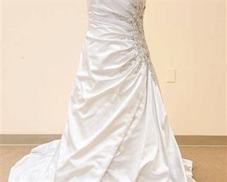 Impression Bridal Size 12 Designer Strapless Bridal Gown - Color:  Antique