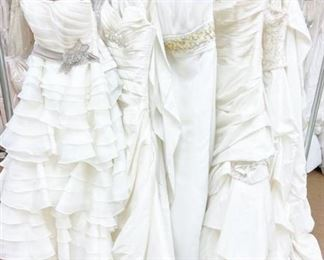 Fabulous Five - Lot of Assorted Designer Bridal Gowns