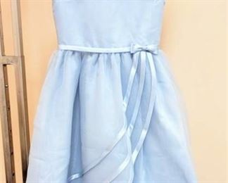 Cheri by Mon Cheri Size 7 Designer Blue Flower Girl Special Occasion Dress