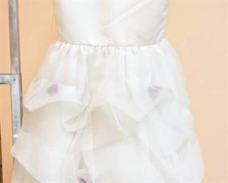 US Angels Size 5 White Flower Girl Special Occasion Dress