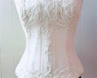 San Patrick Size 10 Off-White Bridal Separates Bustier Top