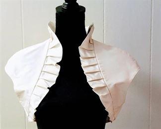 Paloma Blanca Size 12 Ivory/Natural Designer Wedding Bridal Bolero Jacket