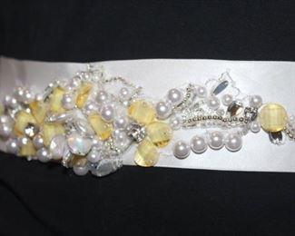 Satin Jeweled Bridal Belt, 90 inches Long